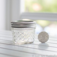 Mini quilted Mason jar