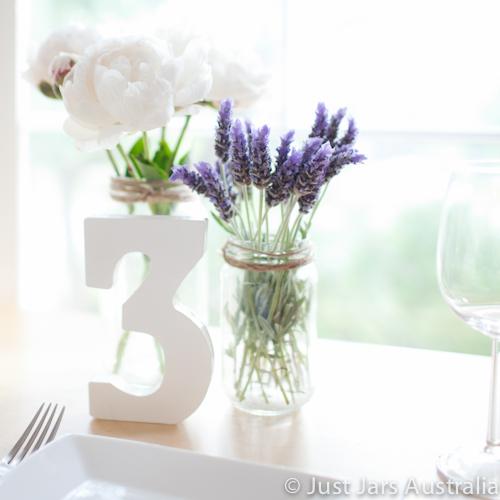 Jars as table decor