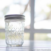 Quilted mouth Mason jar